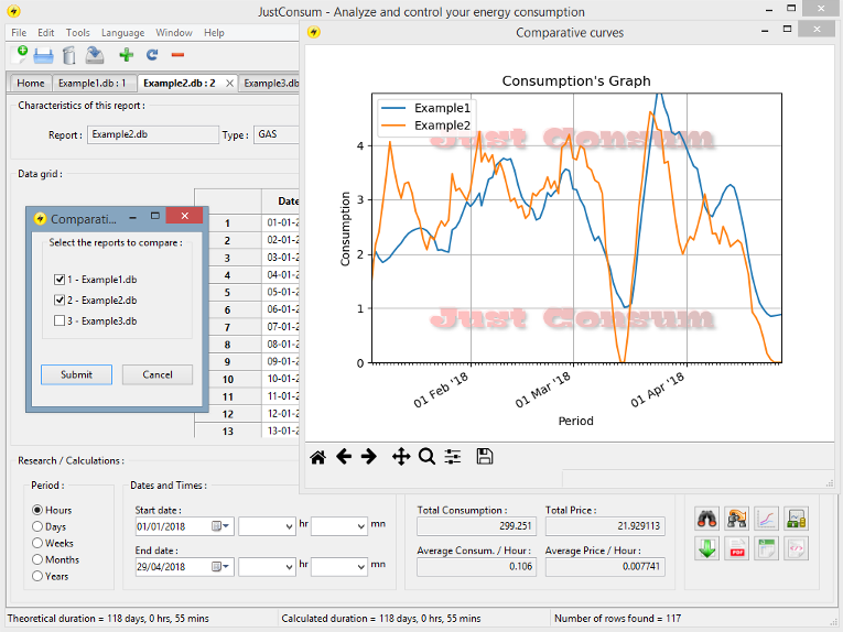 Software manager energy consumption features